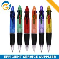 Promotional 4 Color Ink Click Ball Pen with Rubber Holder