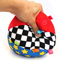 Colorful Ring Bell Ball Baby Toy Ball Educational Cotton Baby Hand Grasp Ball Cloth Music Sense