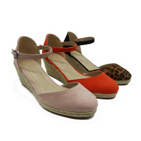 Espadrille wedge heel ladies wedge shoes