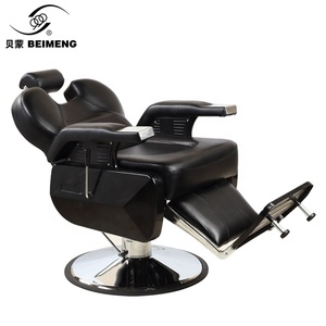Classic modern mobile reclining salon barber chair