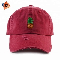 2017 Popular Style Washed Cotton Embroidery 6 Panel Distressed Dad Hat