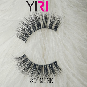 Real mink and 100% handmade lashes private label 3d mink eyelash customer packaging