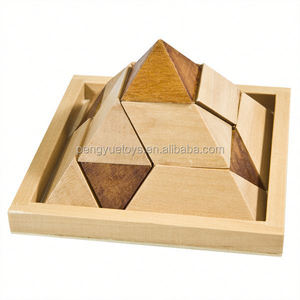 IQ Pyramid Puzzle , Interesting Pyramid , 3D Pyramid Shape Wooden IQ Game Puzzle