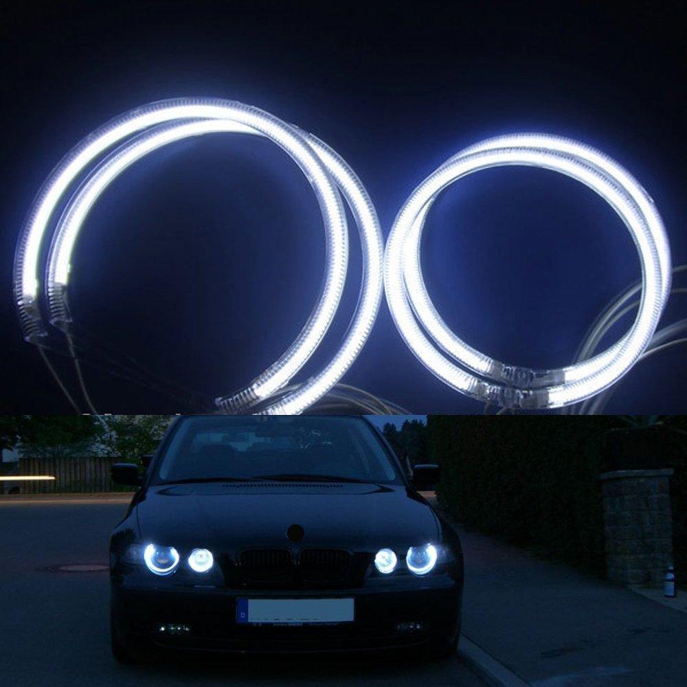 NSLUMO 7000K White Ultra bright illumination CCFL Angel Eyes kit for BMW E46 Compact 2001-2005 (BMW E46 Compact)