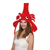 wholesale new Red Costume Funny Party Hat Felt lobste adult Hat