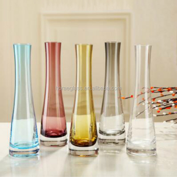 Fresh Clear Glass Vases Floral Glassvases Slant Colored Glass Vase