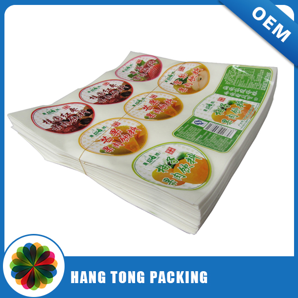 Waterproof 3m sticker printing/sticker postcard printing/reflective sticker printing