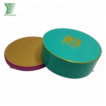 Factory round shape mooncake paper packaging box gift box