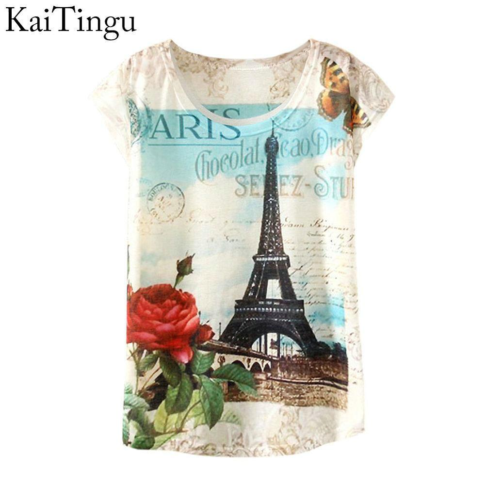 2015 New Fashion Vintage Spring Summer Harajuku T Shirt Women Clothing Tops Tshirt Print T shirt