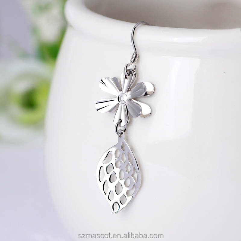 factory made solid 925 silver vietnam jewelry earrings