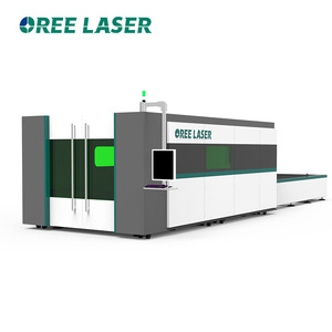 2000w Fully enclosed fiber laser cutting machine price for stainless steel