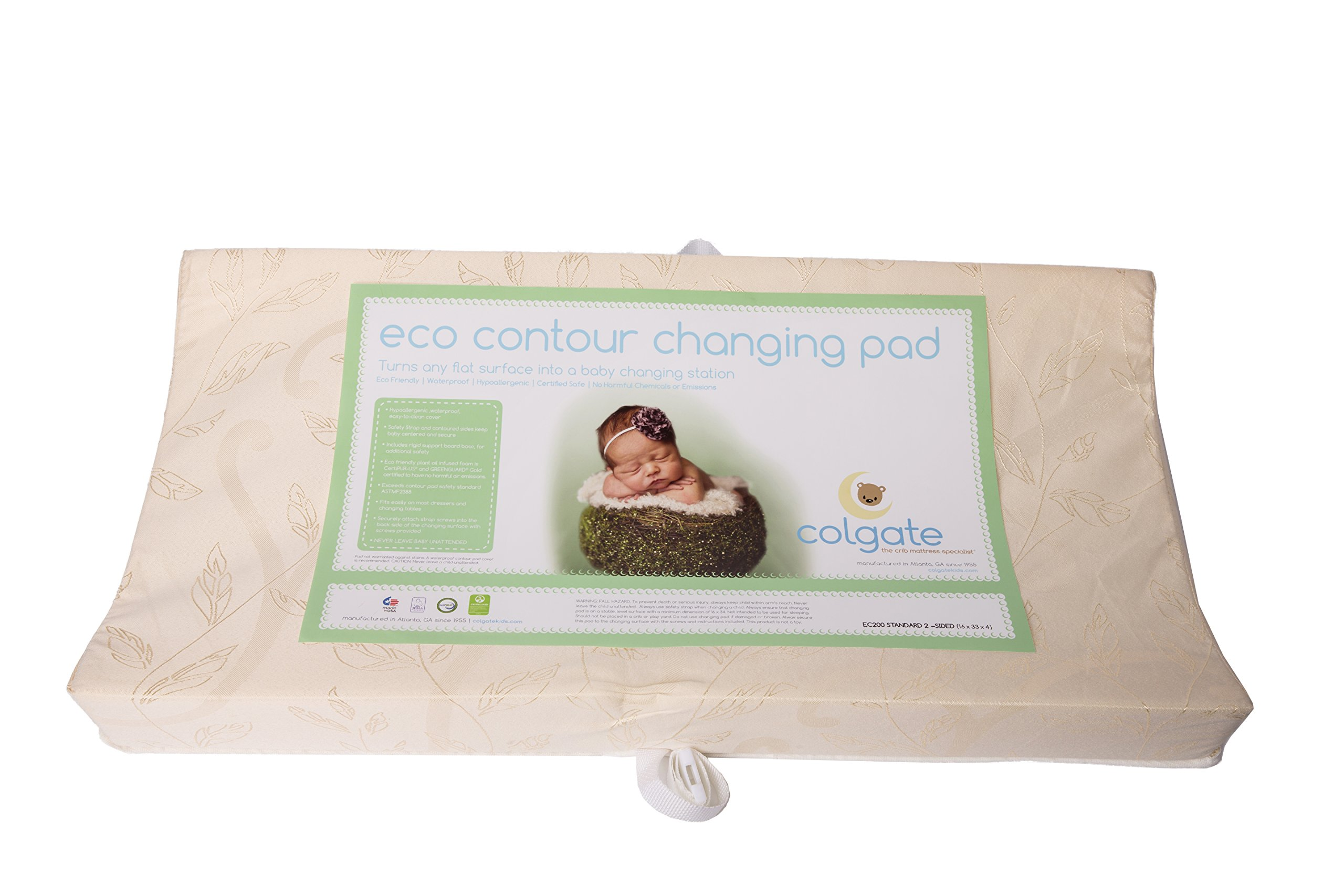 """33/"""" x Colgate Contour Changing Pad with Waterproof White Quilted Cover"""