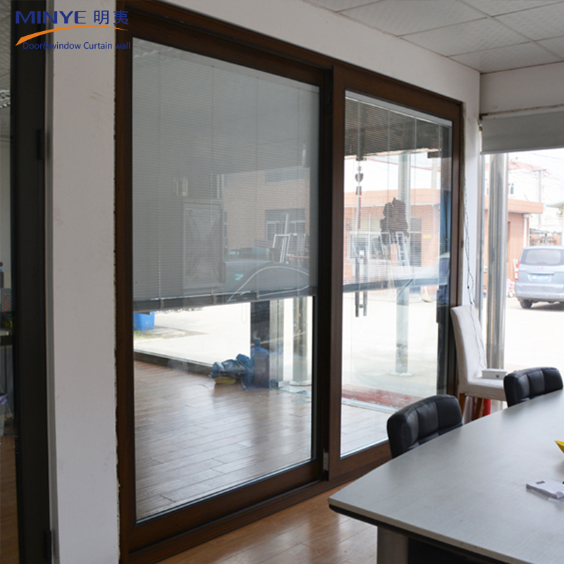 High Quality Interior Wooden Glass Sliding Doorssemi Automatic