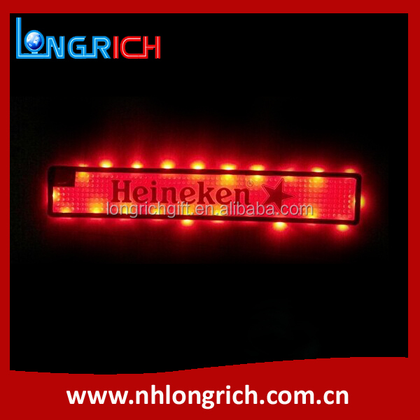 Flashing Led PVC Bar Drip Mat For Beer Promotion