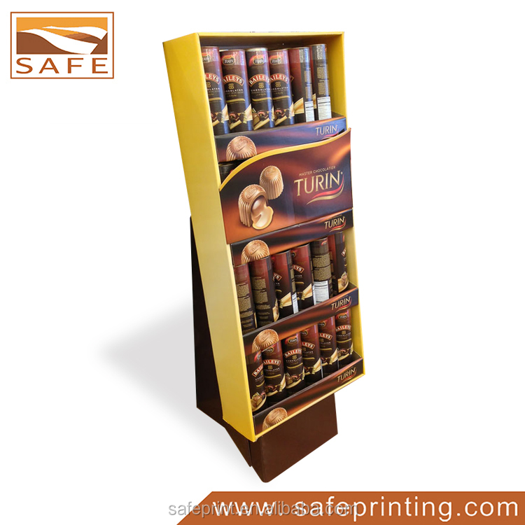 Custom Luxury Cardboard Corrugated Showing Stand Trade Show Shelf/Display Stand/Display Shelving For Craft