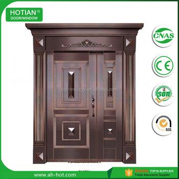 Modern Exterior Door Double Pure Copper Door Villa Entry Front ...
