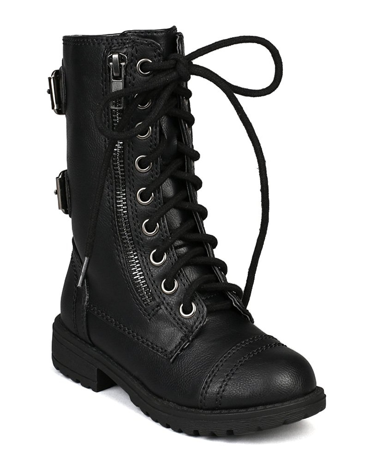 173e4e3eccaa Get Quotations · Soda Girls Kids Dome-2S Lace Up Military Combat Boots