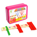 Educational Wooden Montessori Math Materials Digital Intelligence Game Toys Color Teaching Calculation Toy WD41 2