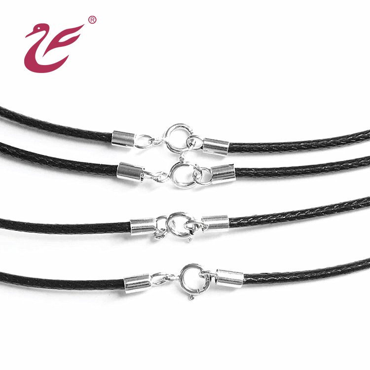 DIY 925 Sterling Silver Jewelry Tube leather cord end caps Connector for bracelet necklace
