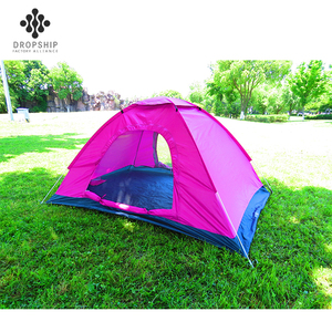 Dropship DS-CT1007 good quality and price of camping manufacturers outdoor waterproof tents pink tent