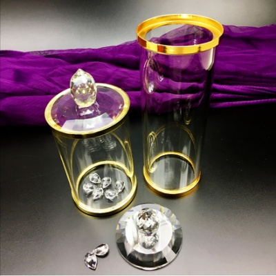 Factory Direct high-end diamond lead-free Crystal Wine Glass Red Wine Glass Cup Two fo a box