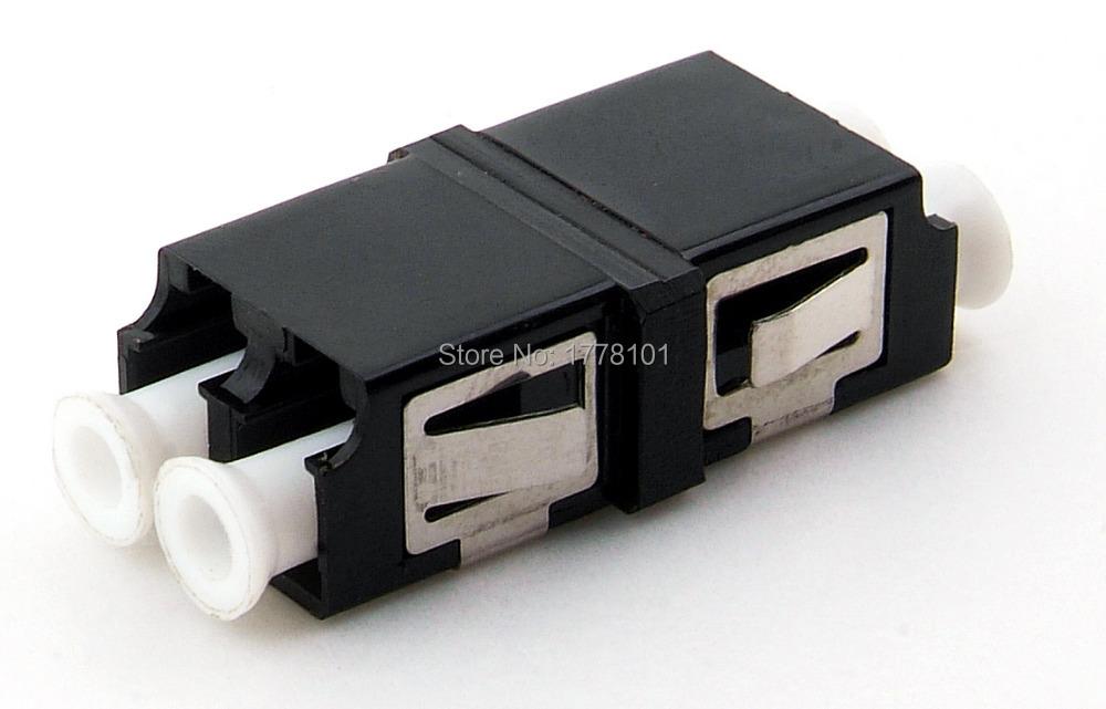 LC/MM fiber coupler fiber optic flange adapter fiber optic connector Duplex  multimode fiber optica 100pcs LC black adapter