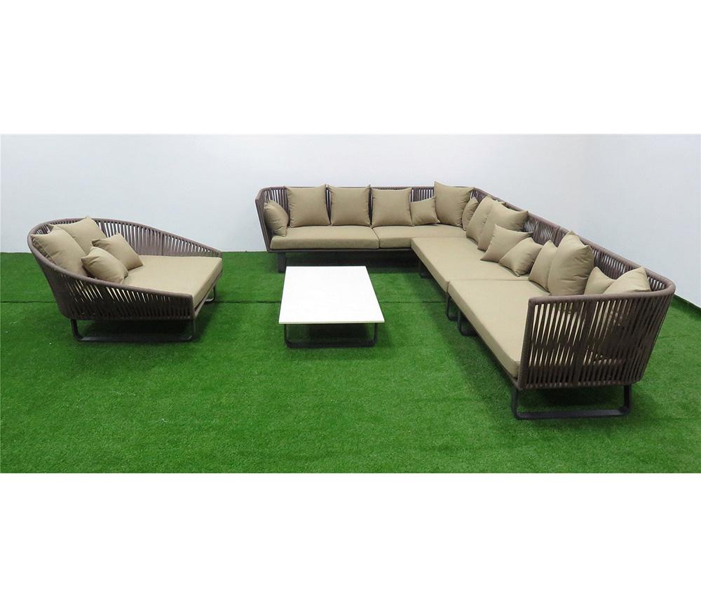 Outdoor Rope Woven Sofa Garden Furniture Morden Product On Alibaba