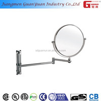 hotel bathroom magnify 5x cosmetic wall mount movable mirror