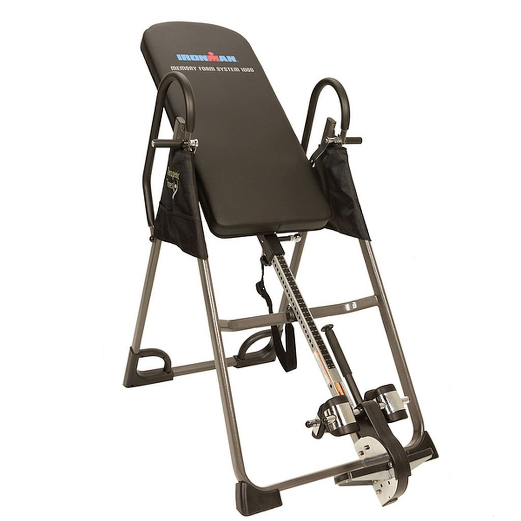Get Quotations · Memory Foam Inversion Table, Tough Rubber Non Skid Floor  Stabilizers To Prevent Any Movement