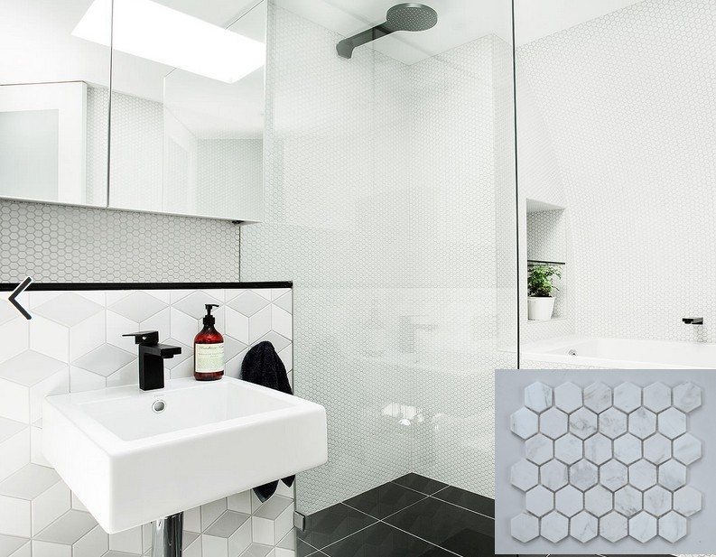 Hexagon Tegels Wit : Alibaba beste groothandel hexagon natuursteen tegel wit marmer