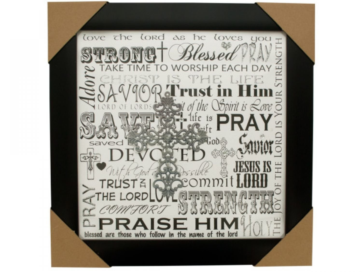 Buy Blessed Word Collage Framed Art - Set of 18, [Photo Storage ...