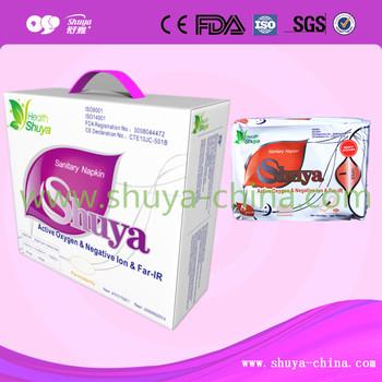 Shuya Lady Anion Natural Sanitary Napkins Manufacturer