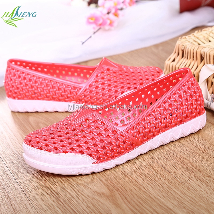 Fashion Ladies Summer Sandals PVC Jelly Beach Shoes Women Injected Casual Shoes Female Leisure PVC Wedges Lady