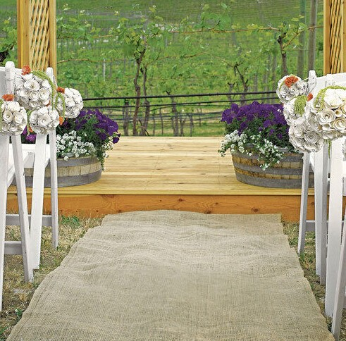 Wedding Aisle Runner Burlap Vintage wedding Garden Decorations 100cm, 110cm