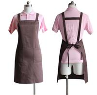 2018 high quality custom design cotton kitchen apron/garden apron