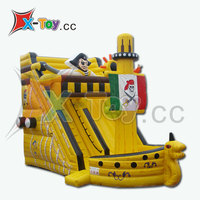 Latest Design Inflatable Titanic Pirate Ship, Giant Inflatable Slide
