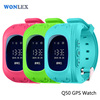 2016 Factory Wholesale Wonlex OLED Display Mini Personal Keychain Smallest Smart Kids GPS watch type mobile phone