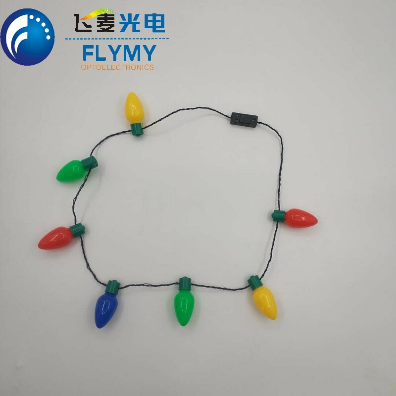 Color changing Light up led necklace for party wedding Christmas and Halloween