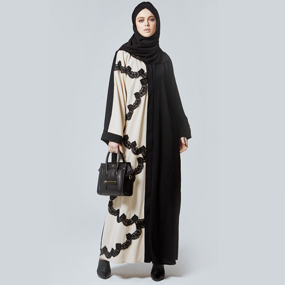 Zakiyyah 7012 Hot Sale Elegant Design Long Dress Open Abaya with Hijab Butterfly Abaya