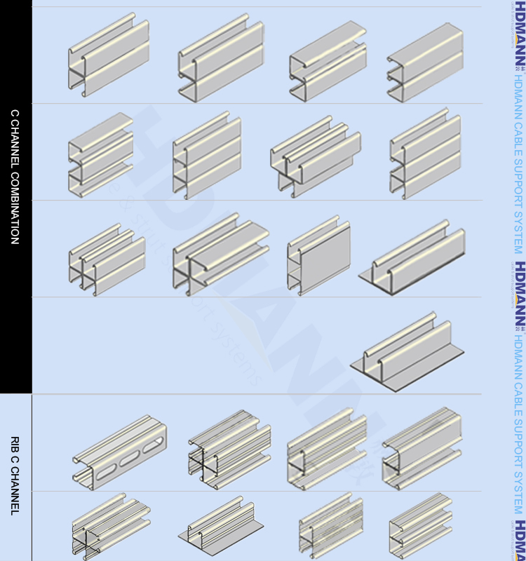Electrical Galvanized Unistrut Channel/strut Steel U ...