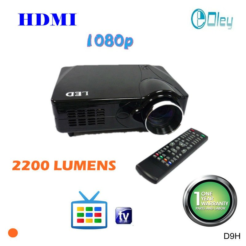 digital big cinema projector 1080p with hdmi and tv tuner, 80w led lamp
