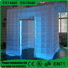 Cheap Price One Door Led Inflatable Photo Booth On Sale