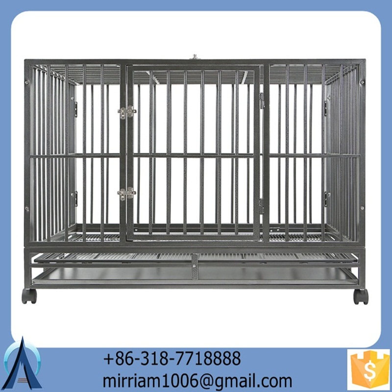 2019 Eco-friendly and stocked easy assemble high quality wrought iron galvanized outdoor dog cages/dog kennels