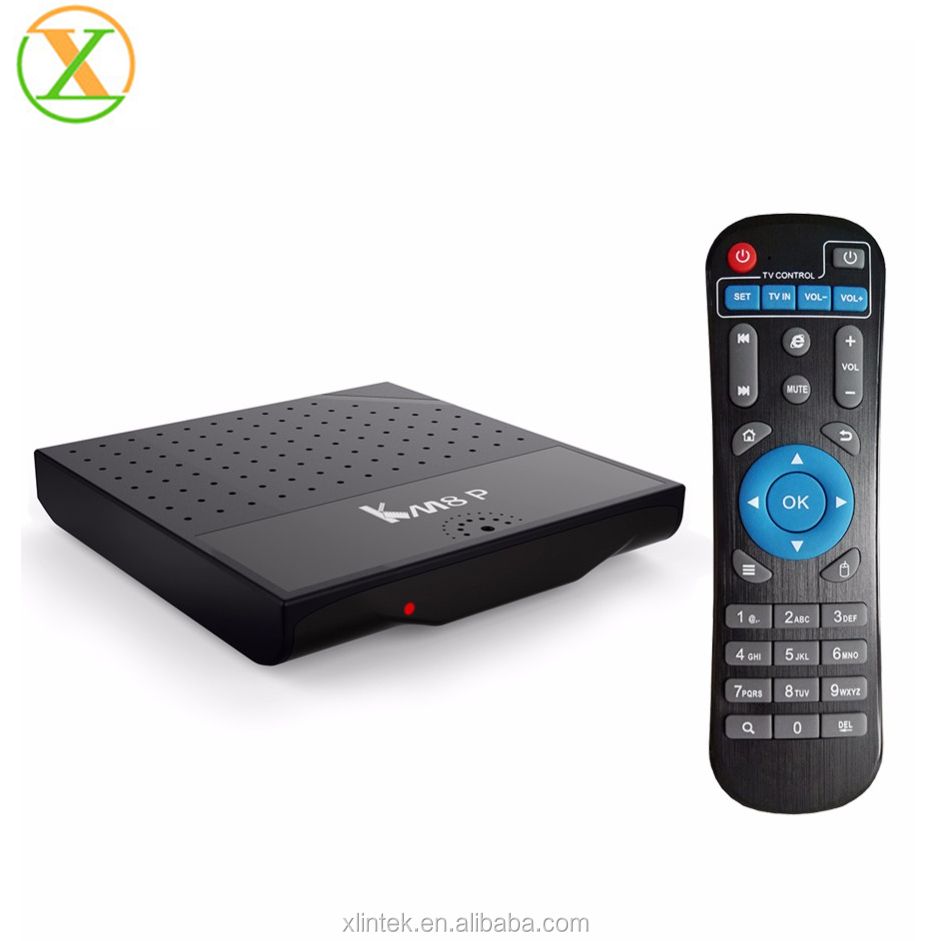 2017 Newest KM8P Android 7.0 TV Box Amlogic S912 4K Android 7 Media Player tv box KM8P accept customized logo