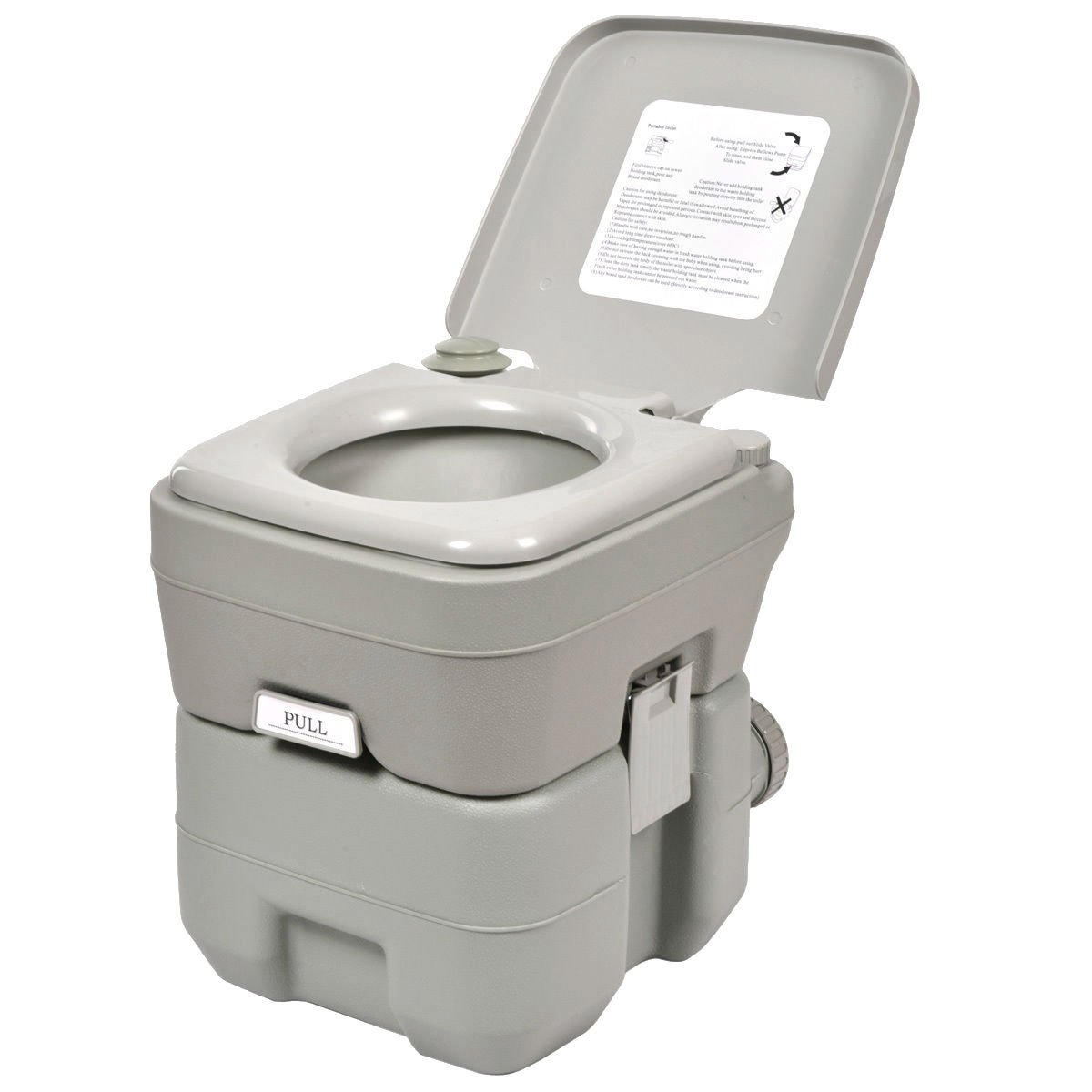 Get Quotations · 5 Gallon 20L Portable Toilet Flush Travel Camping Outdoor  Indoor Commode Potty Camp Gear