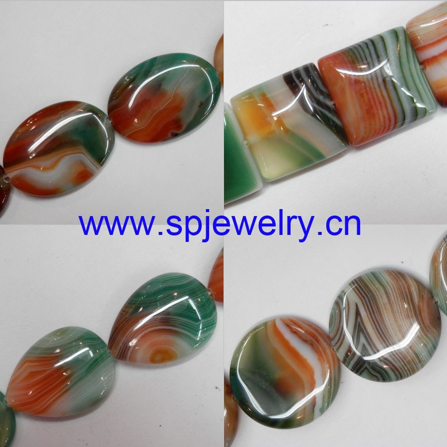 Natural Malachite Agate Beads, AAA grade agate, round 6-14mm