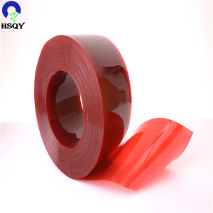 Flexible Plastics Soft Red PVC Door Curtains Strip Standard Film Sheet