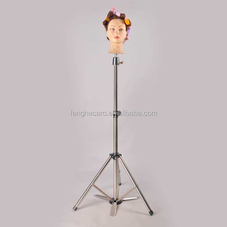 hairdresser mannequin head,Adjustable tripod stand
