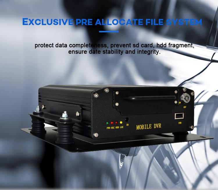 3 グラム/4 グラム/WIFI/GPS 機能 4ch AHD 1080 p HDD SD カードモバイル Dvr