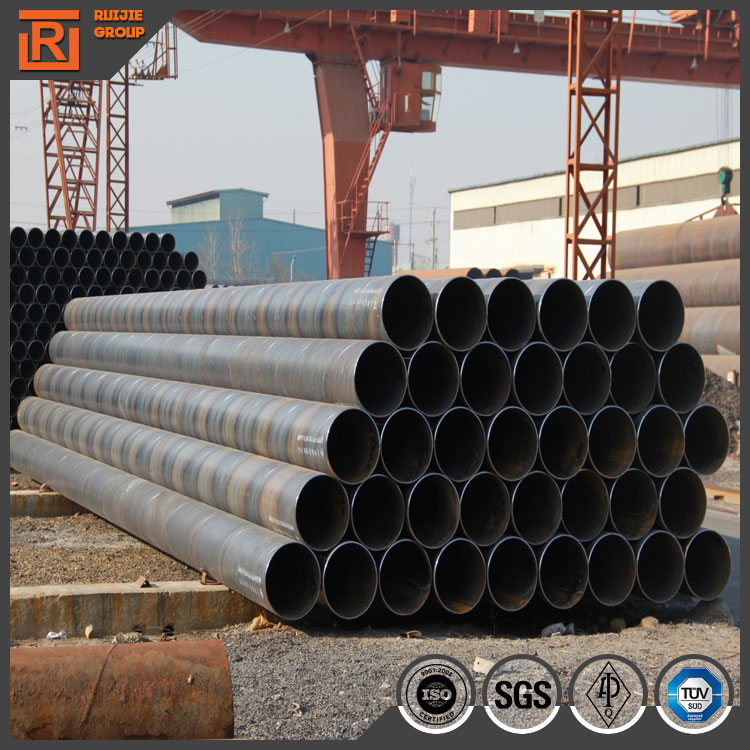 219mm OD 8 inch Q235 large diameter steel tubes, ssaw welded spiral steel pipe for underground use